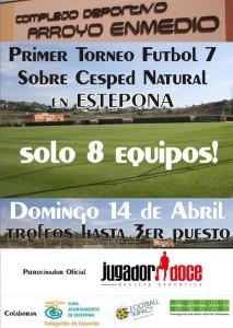Cartel futbol 7 Arroyo Enmedio