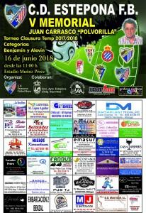 CARTEL MEMORIAL JUAN CARRASCO C.D. ESTEPONA futbol base-2